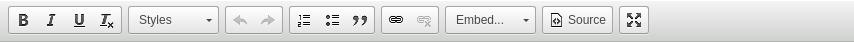 WYSIWYG editor toolbar
